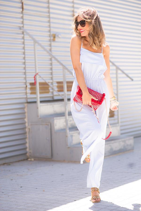mi aventura con la moda blogger jumpsuit bag shoes sunglasses