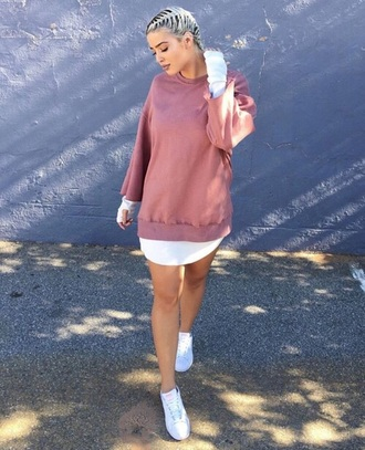 sweater nude pink oversized sweater yeezy