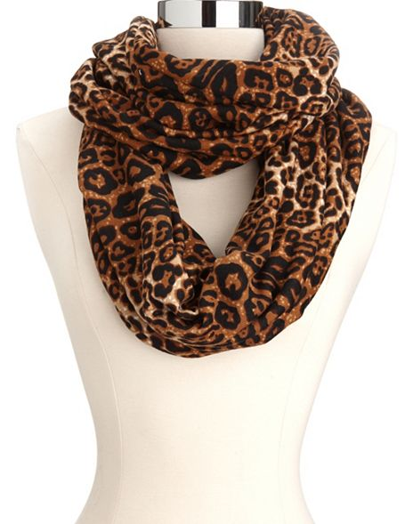 leopard print infinity scarf russe