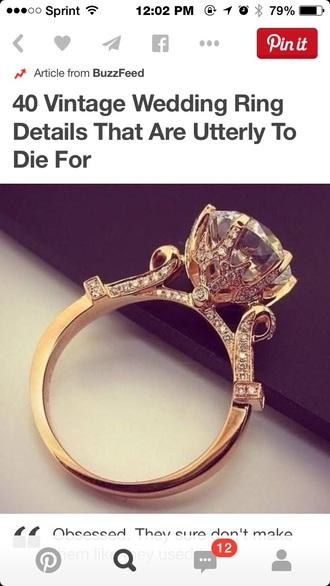 jewels ring rose god diamonds rhinestone