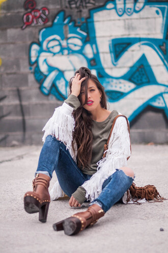 ist by ingrid blogger jacket t-shirt jeans shoes jewels bag