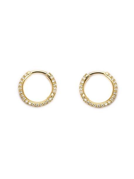 Ileana Makri earrings hoop earrings yellow orange jewels