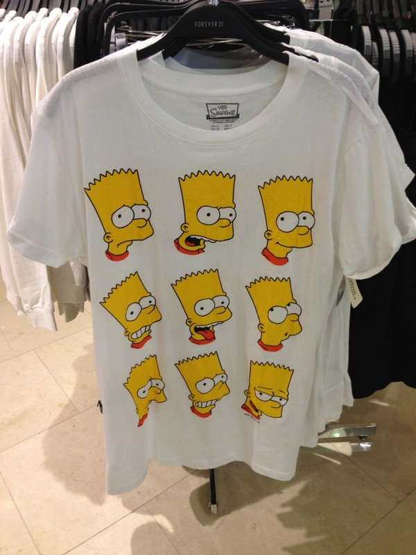 bart simpson bart simpson the simpsons shirt top t-shirt yellow white skirt t-shirt tumblr tumblr black high waisted t-shirt blouse thesimpsons