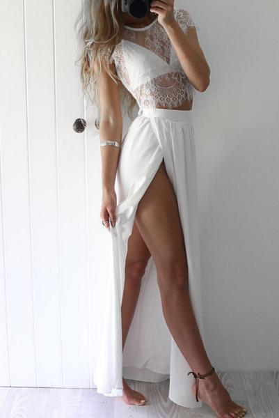 Krystal Dress White