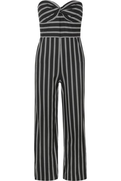 Veronica Beard jumpsuit strapless black
