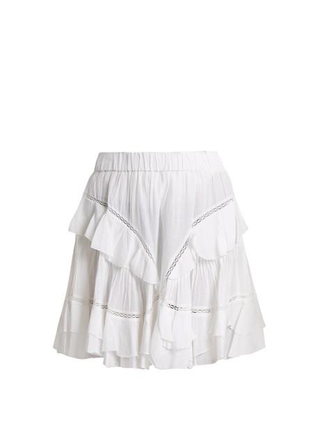 skirt mini skirt mini cotton white
