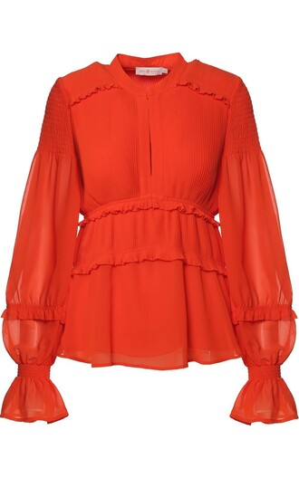 blouse pleated top