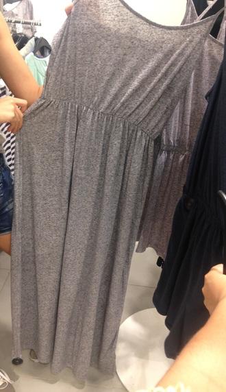 dress gray long loose