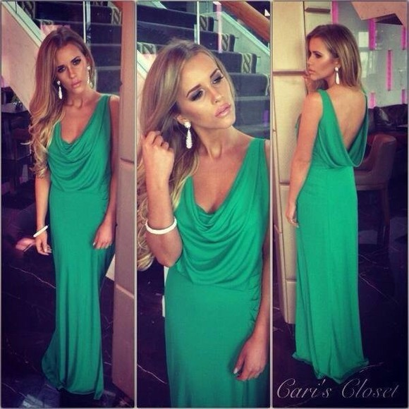 dress sexy long evening dresses evening dress green dress green openback dress backless dress