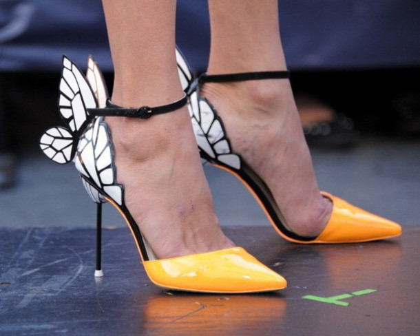 19e2b7222ae4 shoes yellow butterfly