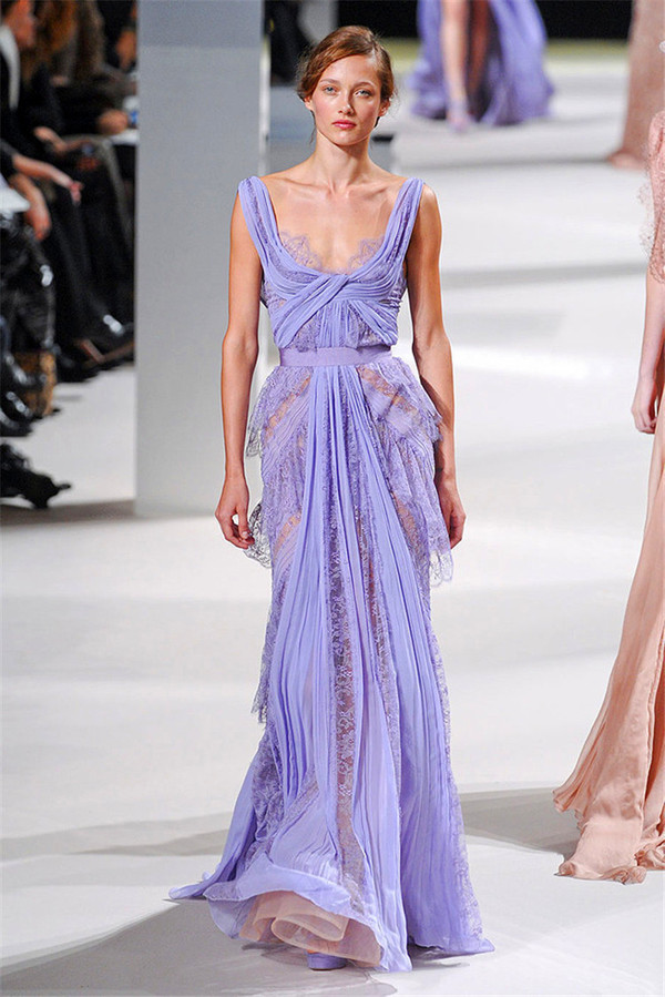 dress lilac purple lace maxi see through dress flowy