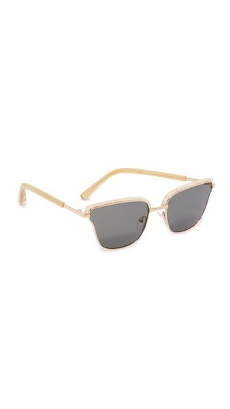 sunglasses gold green