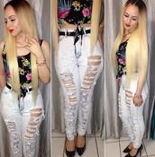 307785,pants,jeans,heels,belt,high heels