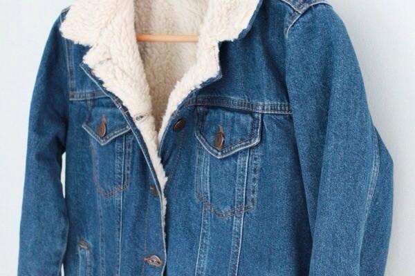 jacket denim jacket shearling jacket indie hipster shearling denim jacket