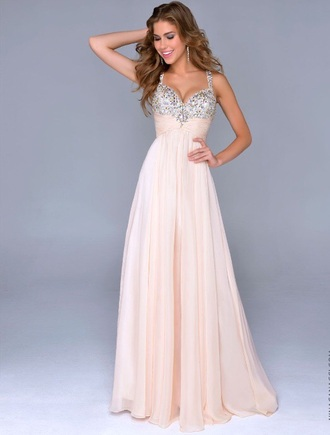 prom dress vintage nude graduation dress sweetheart neckline glamgerous