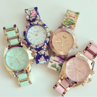 jewels floral watches watch girly preppy geneva