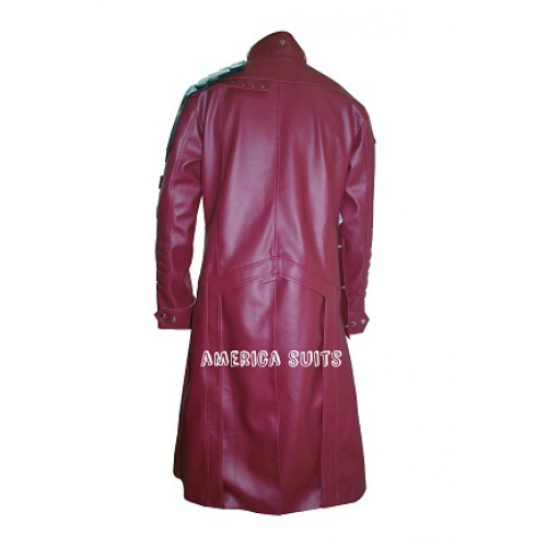 Starlord Guardians of the Galaxy Red Leather Trench