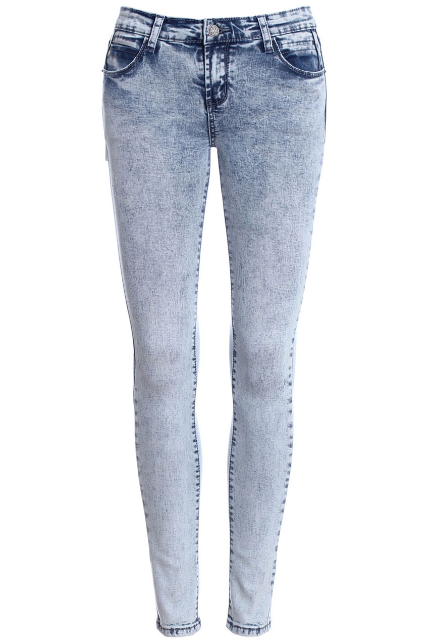 ROMWE   ROMWE Washed Pocketed Skinny Pants, The Latest Street Fashion