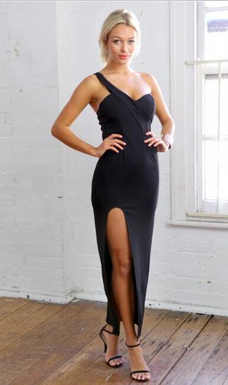 maxi dress black dress sexy dress slit dress little black dress party dress