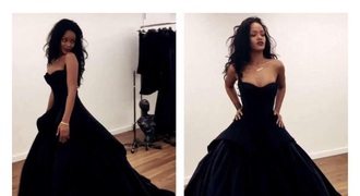 dress rihanna dress rihanna gown rihana dress black dress black goth formal dress wedding dress gothic lolita ball gown dress princess dress navy velvet dress prom dress promdresssparkly black promdress prom blackdress prom rihanna style