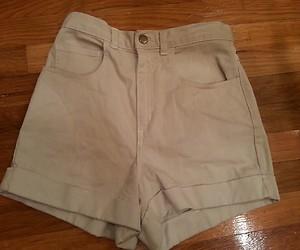 Apparel Size 24 25 Khaki Denim High Waisted Cuffed Shorts $58 | eBay