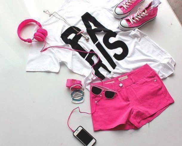 tank top weheartit sunglasses jeans t-shirt shorts blouse swag shirt quote on it white shirt paris pink top shoes home accessory