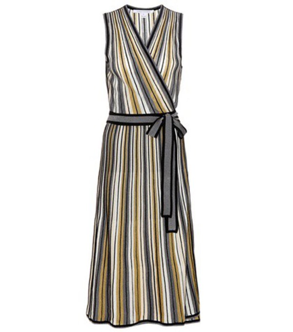 diane von furstenberg cadenza metallic knitted wrap dress wheretoget. Black Bedroom Furniture Sets. Home Design Ideas