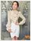 New women victorian ruffle collar blouse puff sleeve silky luxurious top shirt