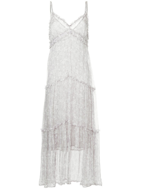 Lee Mathews dress slip dress women silk grey