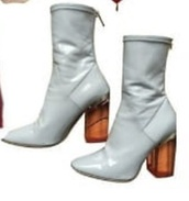 shoes,white,boots,clear,heels,orange,clear heels