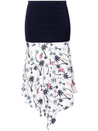skirt women hawaiian black silk