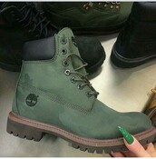shoes,olive green,timberlands