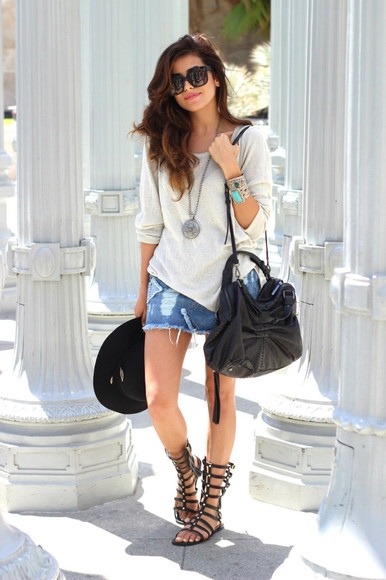 floppy hat blogger shoes boho grecian style summer style summer outfits summer outfits summer sandals summer shoes sandals gladiator sandals boho chic grecian jewels