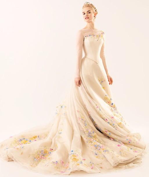 Dress: cinderella dress, cinderella white dress ...