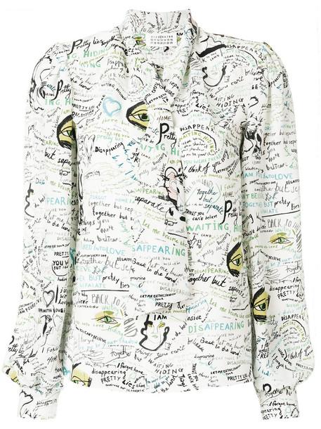 MAISON MARGIELA blouse women white silk top