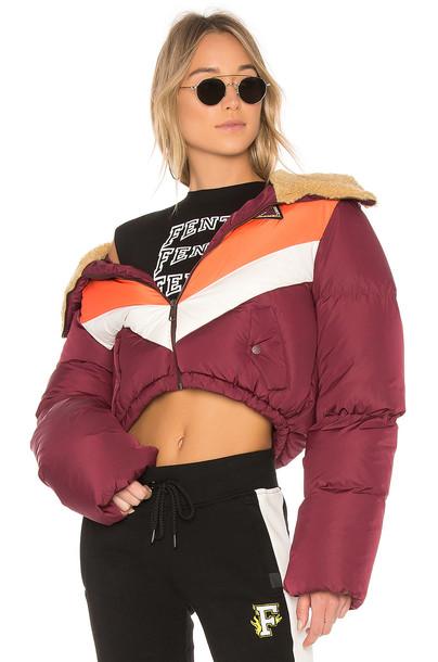 Fenty by Puma jacket quilted burgundy
