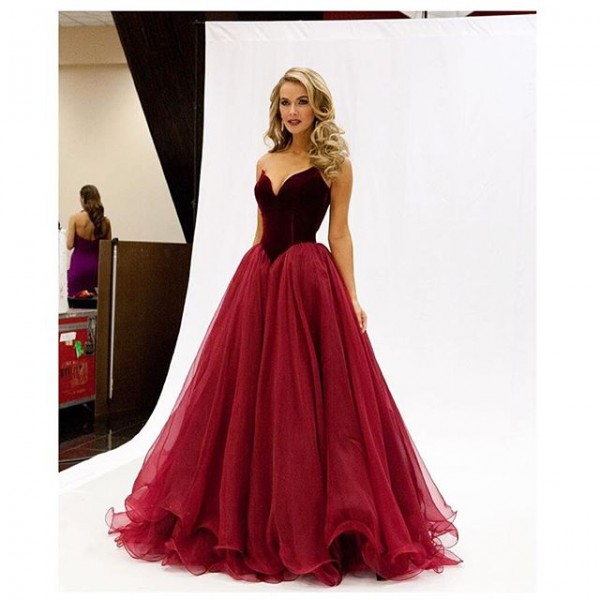 Aliexpress Buy Miss Usa Olivia Jordan Strapless Sweetheart