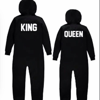 pajamas king and queen onesie