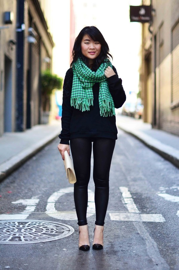 daily disguise sweater scarf pants bag shoes