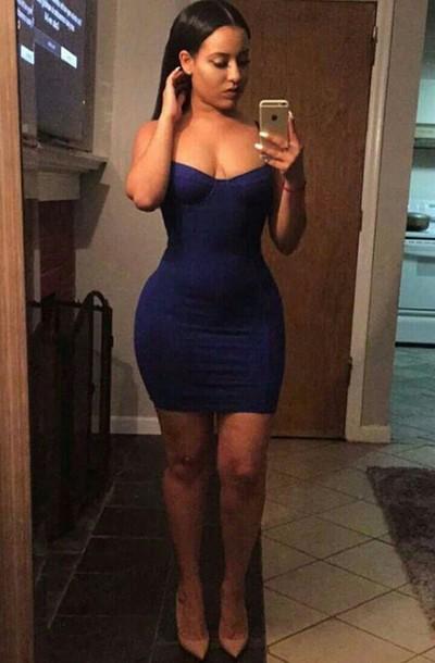 fa74ea7acc83 dress navy dress navy short dress bodycon dress american apparel bustier  dress sexy dress blue blue