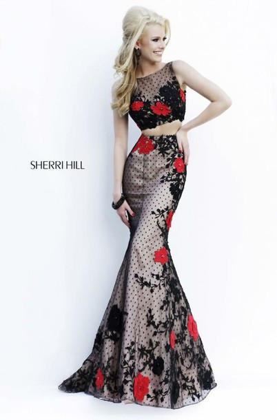 dress sherri hill two-piece