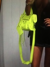 bag,leather,neon,designer bag,yellow,brand