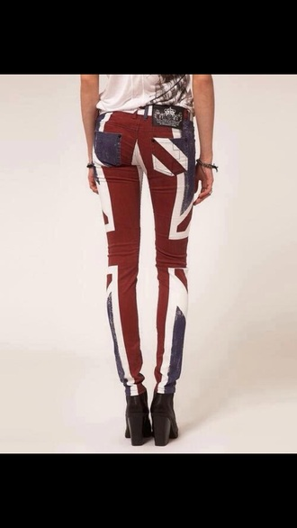 pants british flag pants union jack britsh