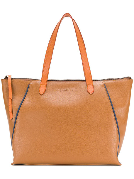 Hogan - large shopper tote - women - Leather - One Size, Brown, Leather