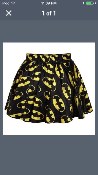skirt batman black skirt skater skirt