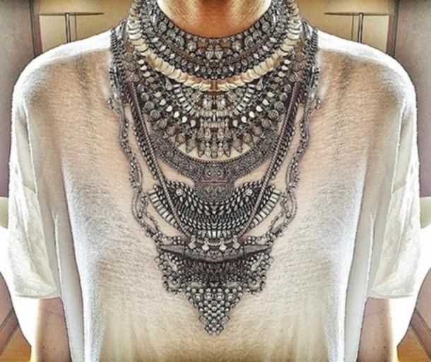 jewels jewelry necklace big necklace