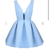 skater dress,vneck dress,white skaterskirt dress sleeveless,light blue,PLL Ice Ball,date outfit,dress,blue dress  heather sanders   c,baby blue dress,v neck dress