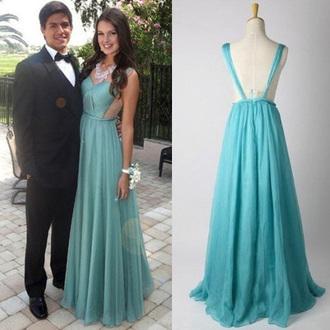 dress mint fashion style gown prom homecoming dress vanessawu