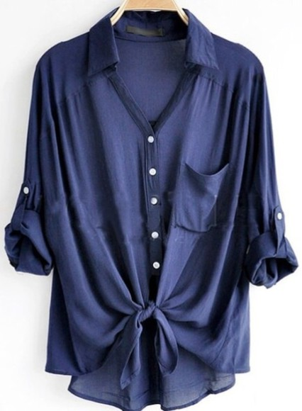 blue blue shirt button up blouse ombre