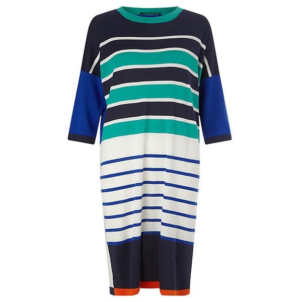 dress striped dress knitwear knitted dress multicolor